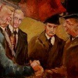 'Irish Politicians'  40cm x 30cm Not For Sale
