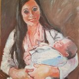 'Mother & Child' 40cm x 30cm