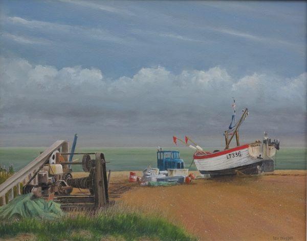 "Aldeburgh Beach Boats 14"" x 17"""