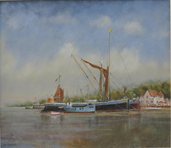 "Barge Moorings – River Orwell 14"" x 16"""
