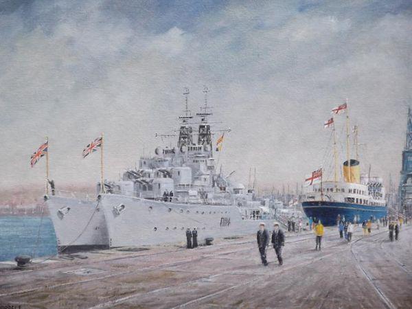 "RY Britannia - Portsmouth  12""  x 16"""