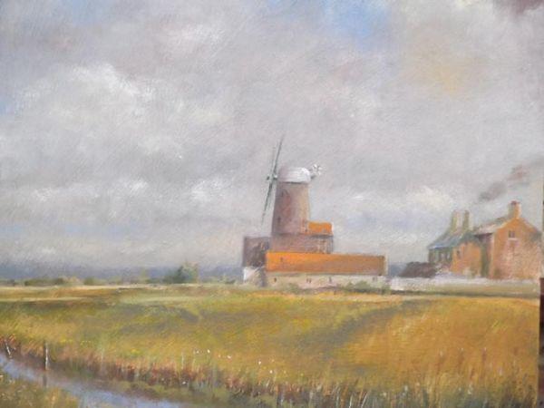 """Windmill at Cley-next-the-Sea Medium : 12"""" x12"""""""