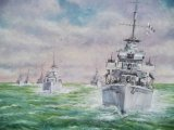 """Destroyers- in - Line: 19"""" x 24"""""""