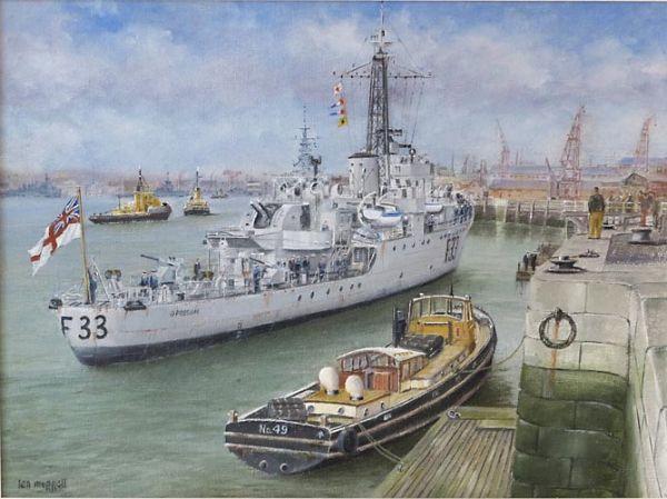 "HMS Opossum – Devonport Dockyard  12"" x 16"""