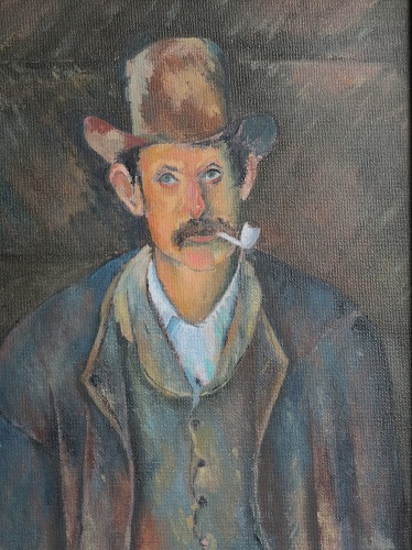 """""""Man with a Pipe"""" 10"""" x 12"""" (After Paul Cezanne: 1839 – 1906)"""