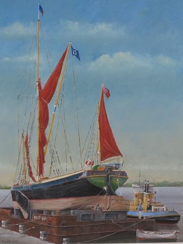 "Thames S.B. 'Northdown' at Maldon 16"" x 20"""