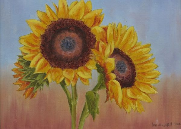 "Sunflowers 10"" x 12"""