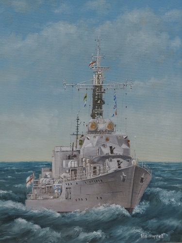 "HMS Cavalier at Speed 12"" x 16"""
