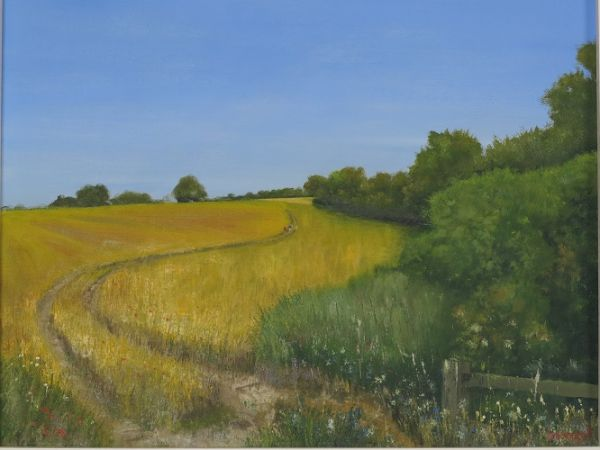 "Towards Long Sutton - Hampshire 16"" x 20"""