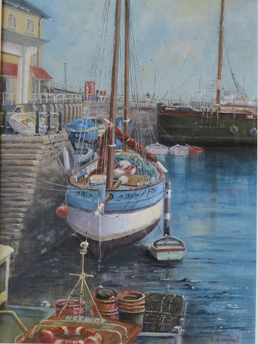 "Brixham Harbour - Devon: 12"" x 16"""