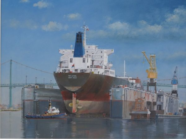 "Nelvana in Dry Dock 14"" x 18"""
