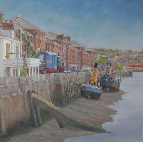 "Chatham Historical Dockyard - Gun Wharf: 20"" x 20"""
