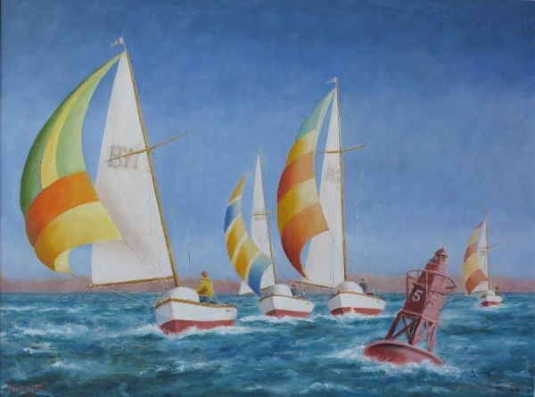 Race to the Bouy: 18* x 24""