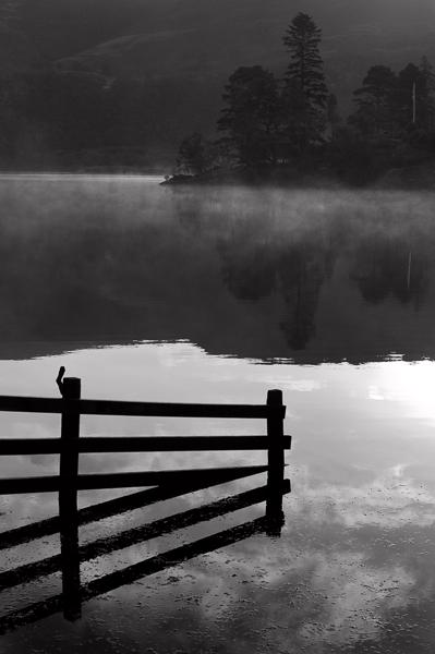 Fence, Sky, Lake. Derwentwater