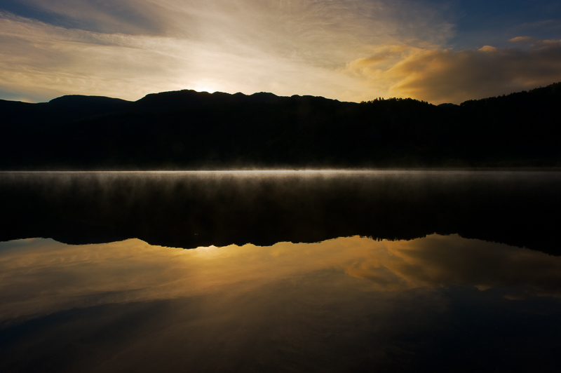 Misty Lake at Sunrise, Derwentwater.
