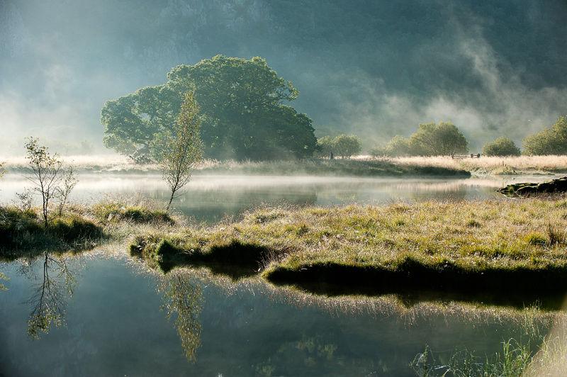 Mist at Sunrise, Derwentwater.