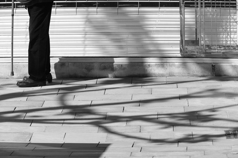 Stick, Shutters, Shadows.