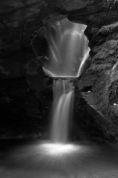 St Nectan's Glen Waterfall.
