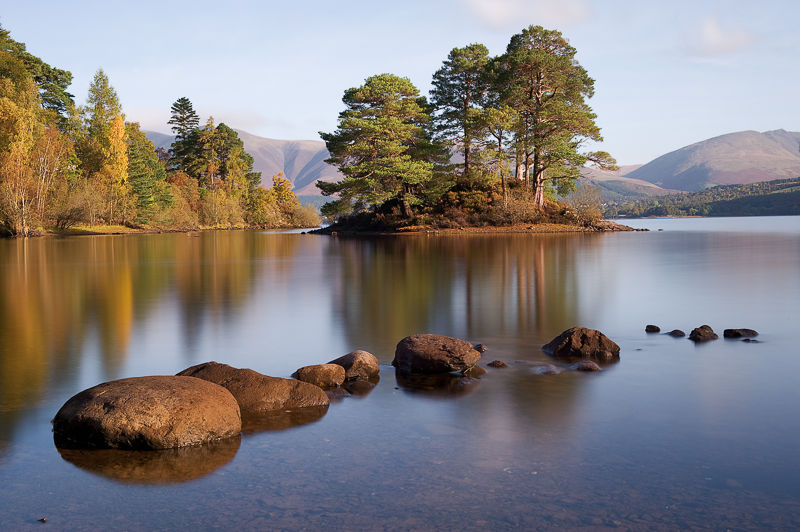Stones and Reflections, Derwentwater.