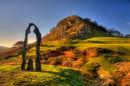 Loudoun Hill and Scotland Sculpture