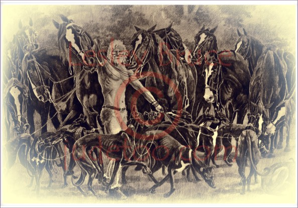 Gwydion conjured Horses and Dogs