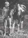 This is me 12 years old with my favourite  Thomas's Stables pony Sarge