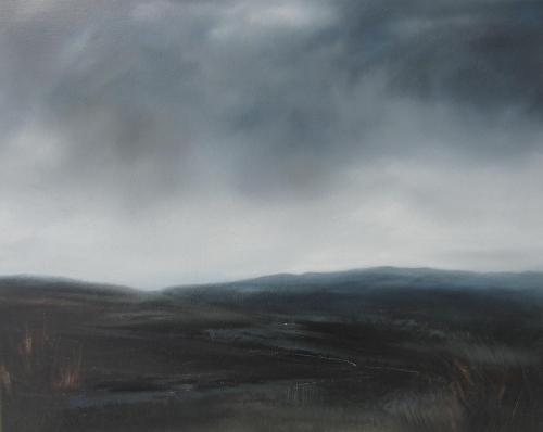 Moorland, autumn rain