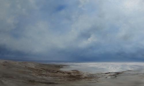 Bright sea, clouds building