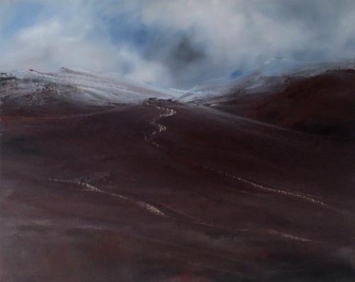 Dark foothills