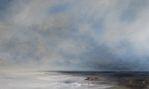 Low tide, sky brightening