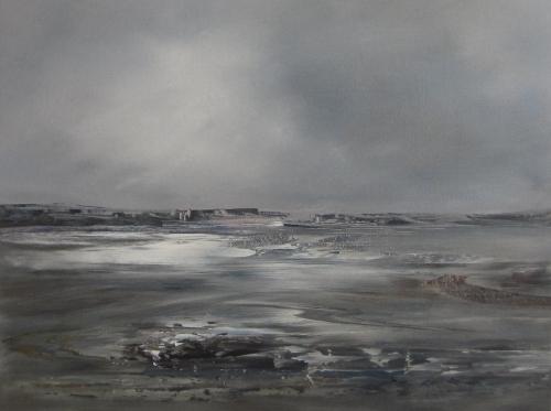 Mudflats and rain clouds