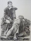 Man and Boy - graphite pencil