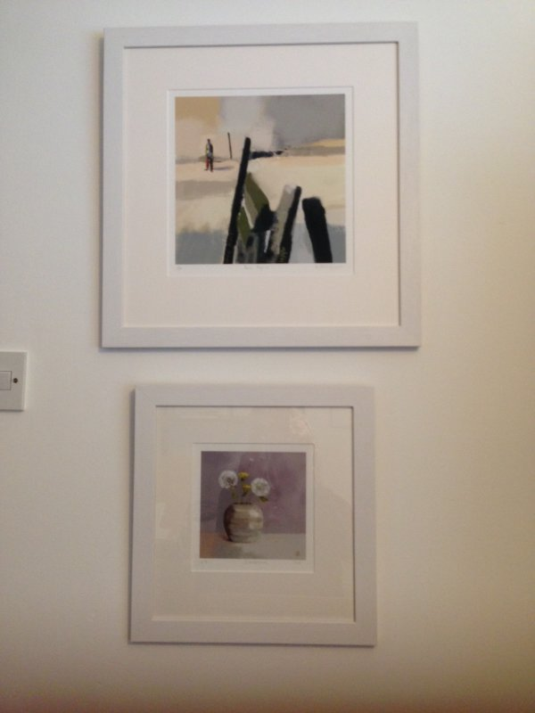 Lone Figure (£160) and  Dandelions (£95)  FRAMED