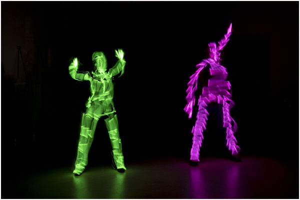 Glow Stick Painting