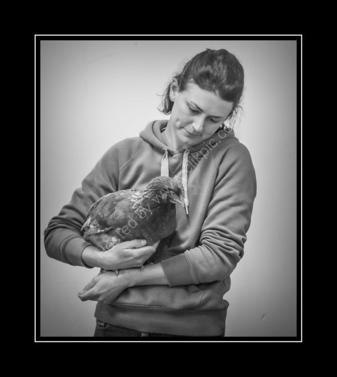 Sarah Overton - Her birds are her pets, but this pet came first in the Large Farm Hybrid class. No wonder she looks so proud!