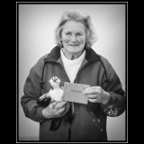 Barbra Phillips - Here holding her first place winning Silver Quail, in this show Barbra has also picked up seven other firsts, 4 seconds and three third places! Barbra also won awards for her eggs.