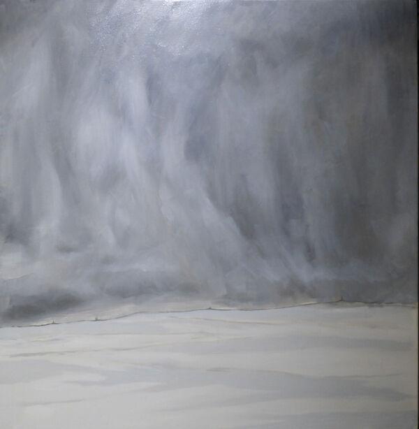 'Lockdown Landscape' - Oil on canvas 100 x 100 cm