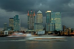 Docklands before the storm