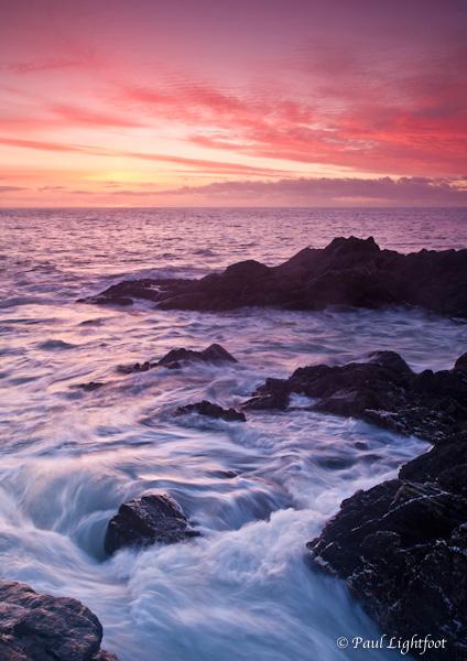 Rocks and swell at dawn, Lake Rock