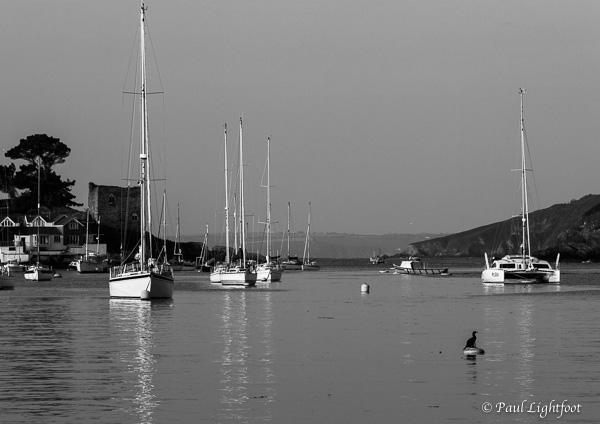 Boats in the morning sun, Polruan