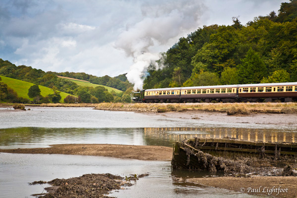 Steam train on the Looe Valley line