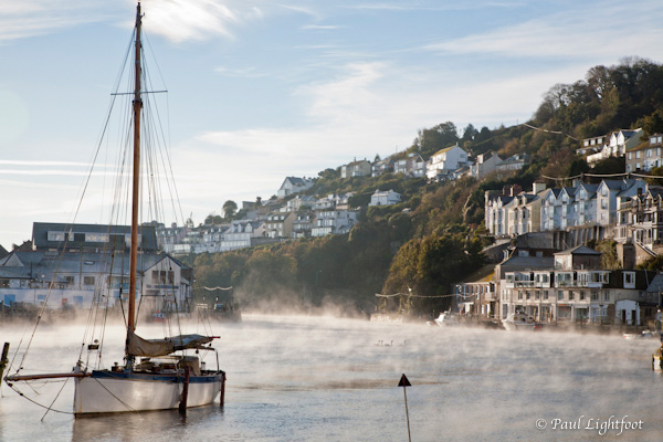 Boat and autumn mist, Looe
