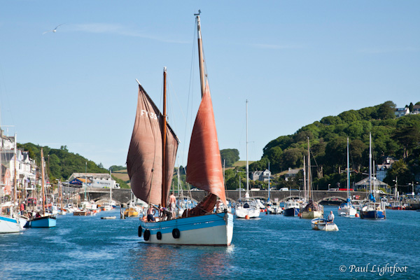 Lugger in Looe harbour
