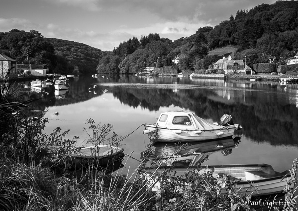 High tide reflections, Lerryn