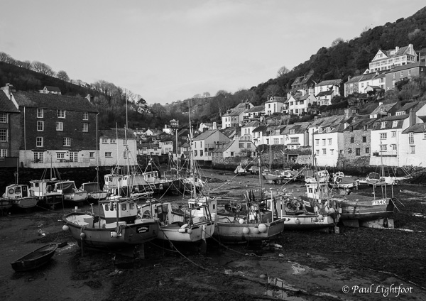 Low tide in the outer harbour, Polperro