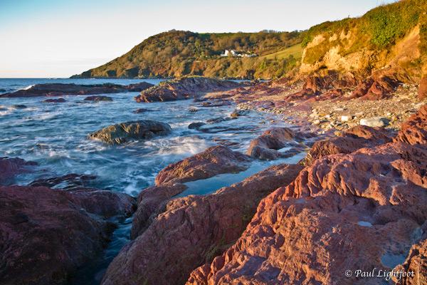 Red rocks at dawn, Talland
