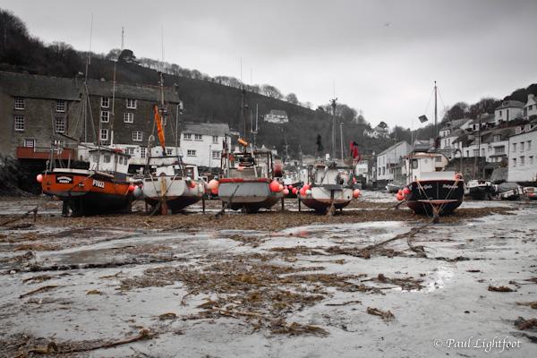 Polperro, low tide
