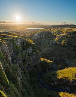 Autumn light Cheddar Gorge