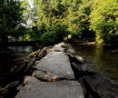 Tarr Steps, River Barle, Somerset, England, UK.