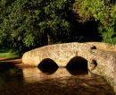 Packhorse Bridge, Dunster, Somerset, England, UK.